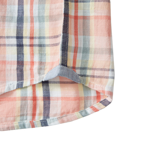 Hayden Slub Twill - Pink Multicolor Plaid