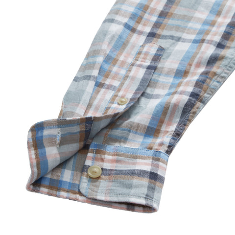 Hayden Slub Twill - Slate Multicolor Plaid