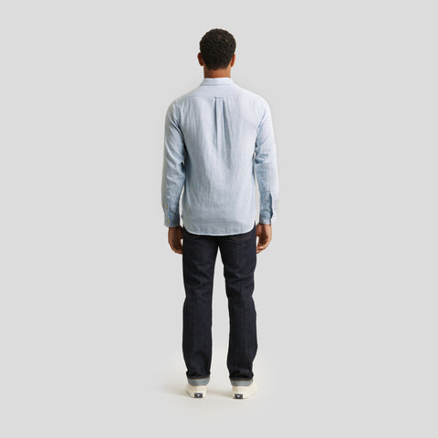 Hammond Double Cloth Shirt - Blue Chambray