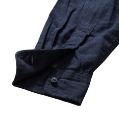 Hattox Double Cloth Shirt - Navy Heather