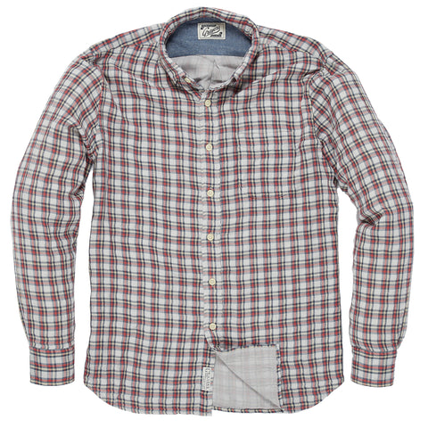 Bauer Double Cloth Shirt - Cream Yellow Red-Grayers