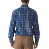 Seaford Poplin Shirt - Blue Navy Plaid