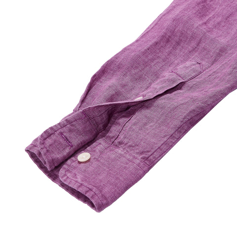 Paloma Sun Washed Linen Long Sleeve Shirt - Lavender