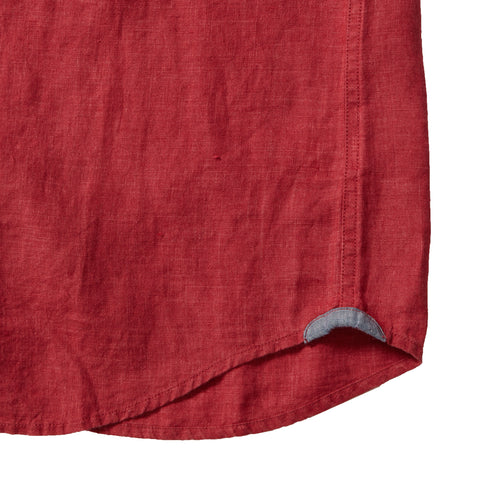 Paloma Sun Washed Linen Long Sleeve Shirt - Red-Grayers