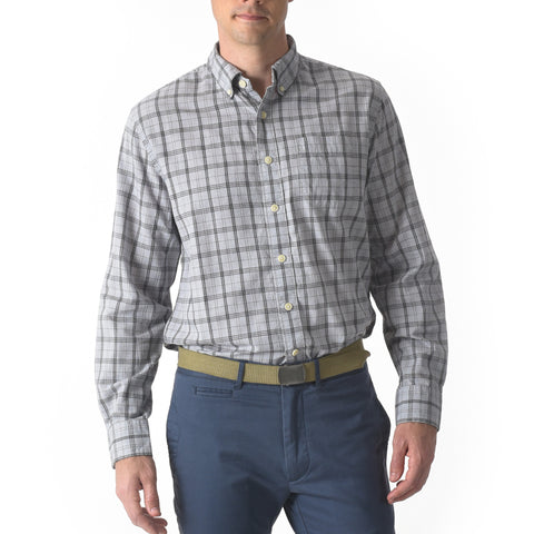 Graystone Poplin Shirt - Gray Plaid