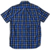 Seaford Poplin Short Sleeve Shirt - Blue Navy Plaid