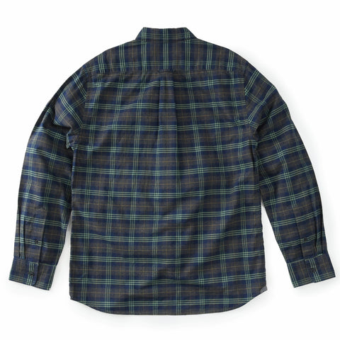 Clyde Brushed Oxford Shirt - Charcoal Navy Green-Grayers