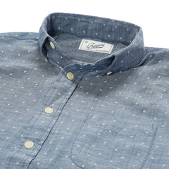 Falling Apple Printed Slub Twill Shirt - Blue-Grayers