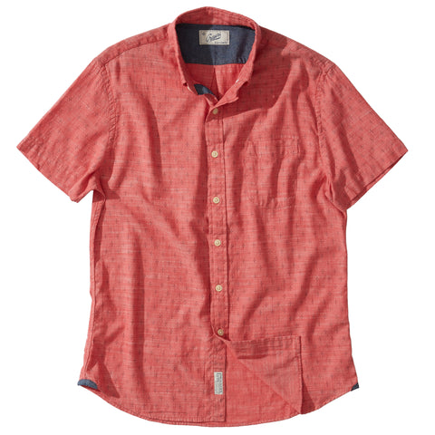Portofino Featherweight Poplin Shirt - Dusty Cedar
