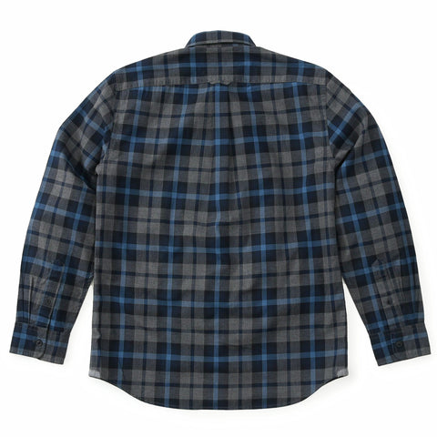 Heath Heather Poplin Shirt - Gray Navy Blue-Grayers