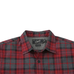 Hollsman Heather Poplin Shirt - Red Charcoal