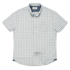 Grove Mini Check Heather Summer Twill Short Sleeve Shirt - Gray-Grayers