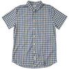 Grange Shadow Gingham Short Sleeve Shirt - Navy Gray