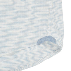 Horizon Summer Twill Short Sleeve Shirt - Blue Cream Stripe-Grayers