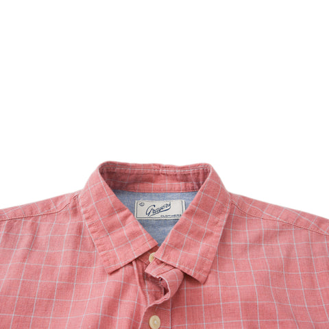 Stalham Poplin Short Sleeve Shirt - Quartz Windowpane