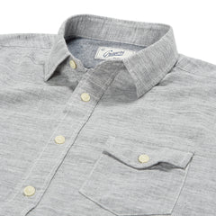 Heather Herringbone Twill Short Sleeve Shirt - Charcoal Herringbone-Grayers