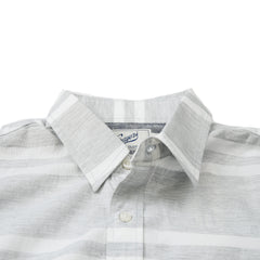 Gramercy Chambray Short Sleeve Shirt - Gray Cream Stripe-Grayers