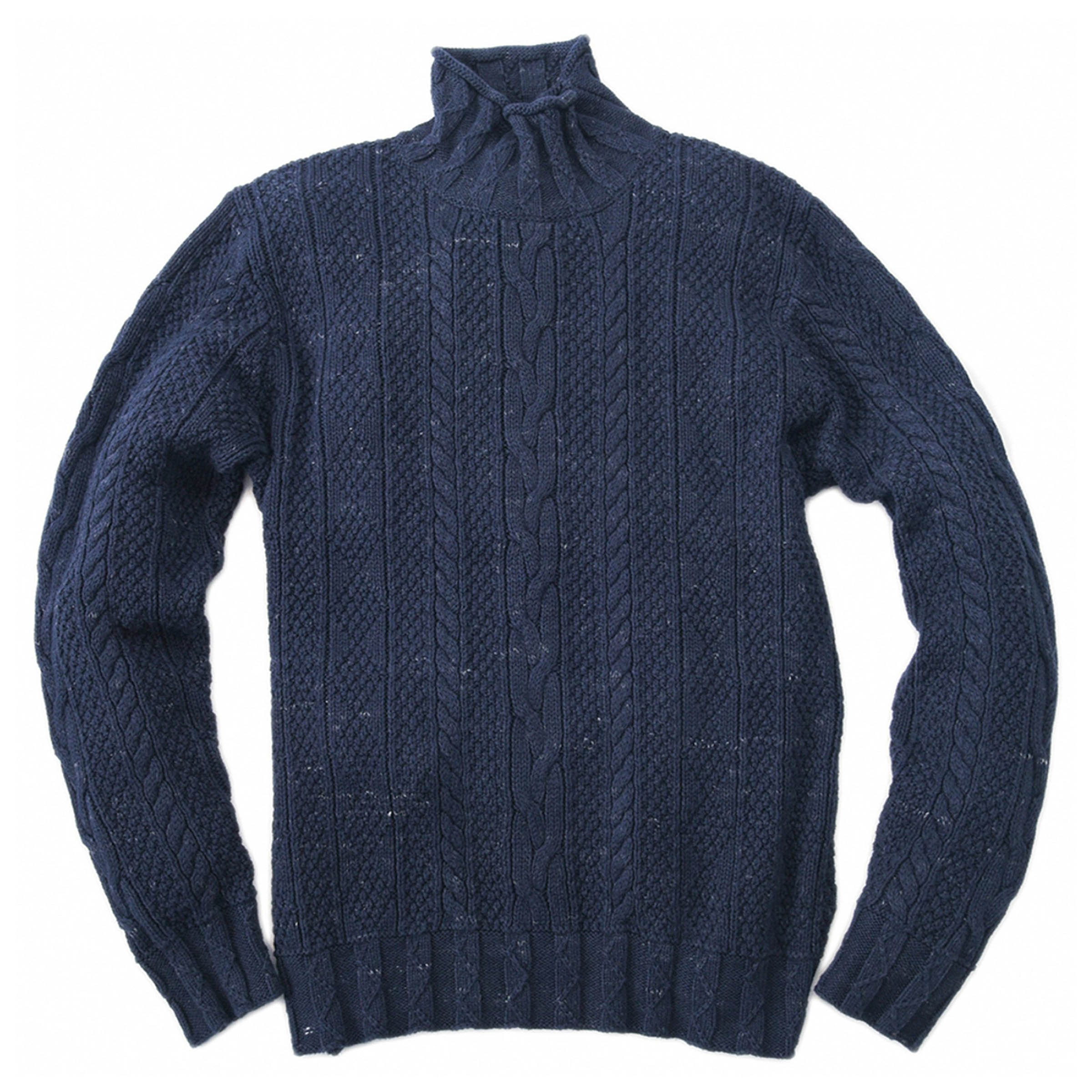 Albert Roll Neck - Navy Heather