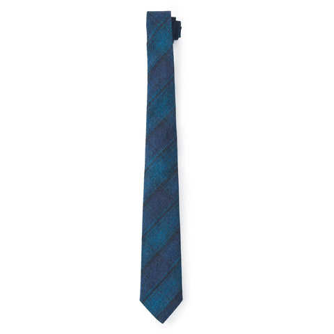 Cortland Neck Tie - Charcoal Blue Green-Grayers