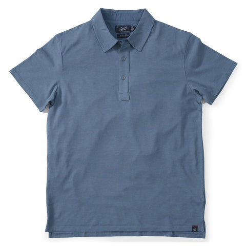 Drake Micro Stripe Lux Polo - Provincial Blue-Grayers