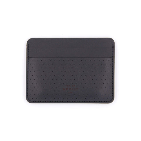 Woolly Half Wallet - Perforated Black-Grayers