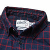 Boy's Country Flannel Shirt - Heather Navy Red Windowpane