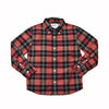 Boy's Holiday Slub Poplin Shirt - Red Black Green