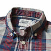 Boy's Indigo Slub Poplin Shirt - Red Navy Plaid