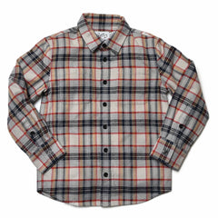 Boy's Heritage Flannel Shirt - Multi Color Plaid-Grayers