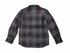 Boy's Heritage Flannel Shirt - Charcoal Multi-Color Plaid-Grayers