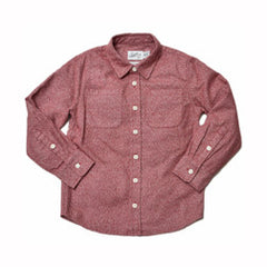 Boy's Heritage Flannel Shirt - Red Cream Jaspe-Grayers