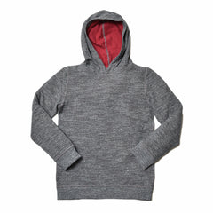 Boy's Double Cloth Hoodie - Charcoal