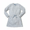 Girl's Jersey Placket Dress - Light Gray Heather