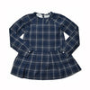 Girl's Drop Waist Dress - Blue Heather Plaid