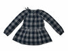 Girl's Drop Waist Dress - Gray Blue Heather Plaid