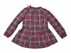 Girl's Drop Waist Dress - Red Navy Cream Plaid