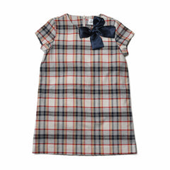 Girl's Sunday Dress - Multi Color Plaid