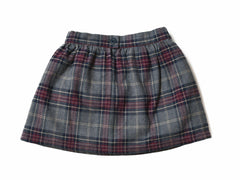 Girl's Flannel Skirt - Charcoal Multi Color-Grayers