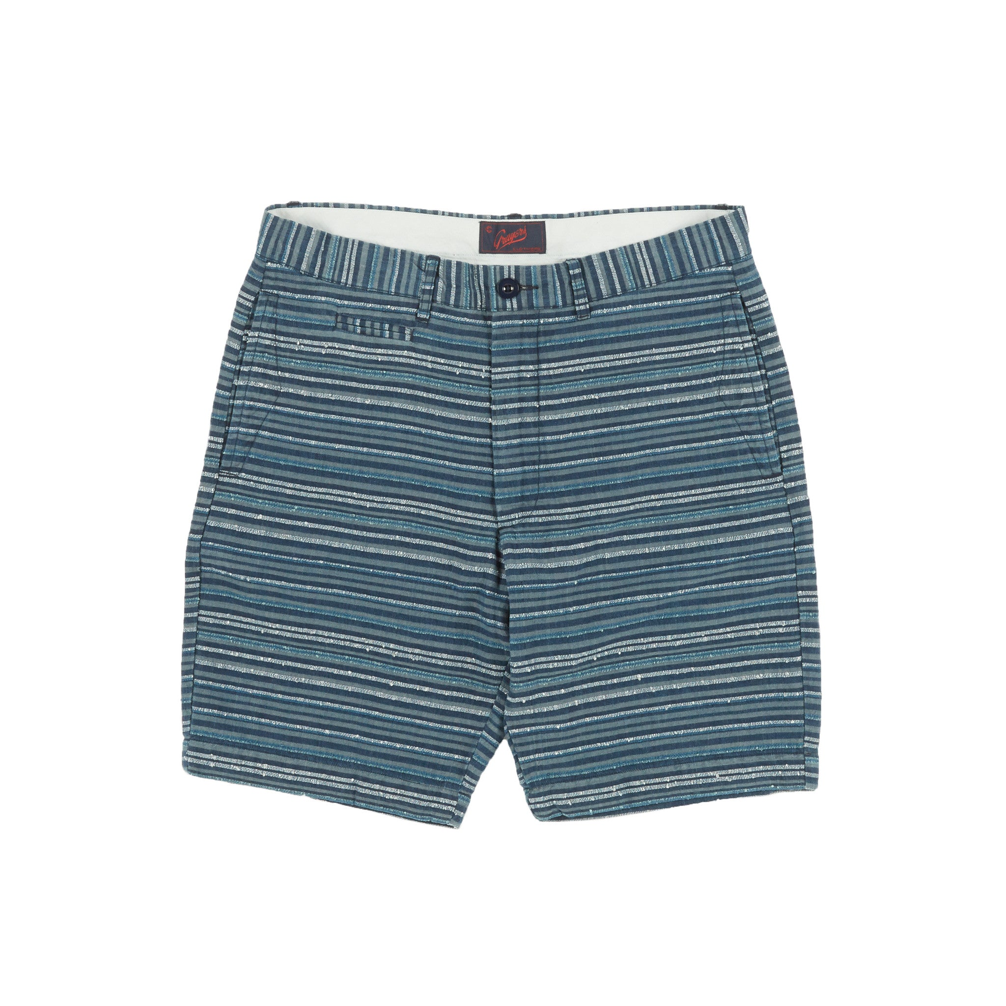 "9"" Newport Boro Short - Blue Horizontal Stripe"