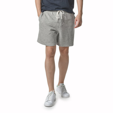 Montague Twill Terry Drawcord Shorts - Gray Heather