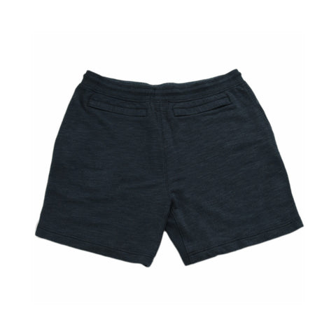 Montague Twill Terry Drawcord Shorts - Navy Heather