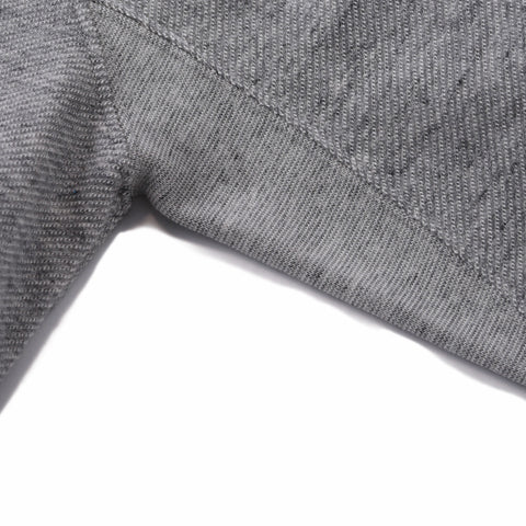 Montague Twill Terry Crew - Gray Heather