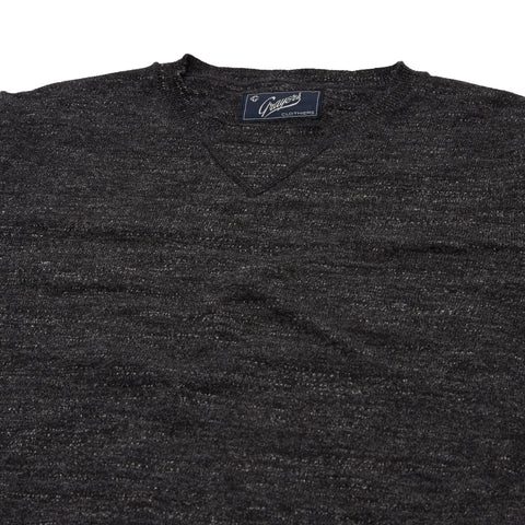 Shore Slub Cotton Crew Neck - Gray Heather
