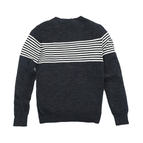 Cabana Stripe Crew - Graphite Navy Neutral Stripe-Grayers