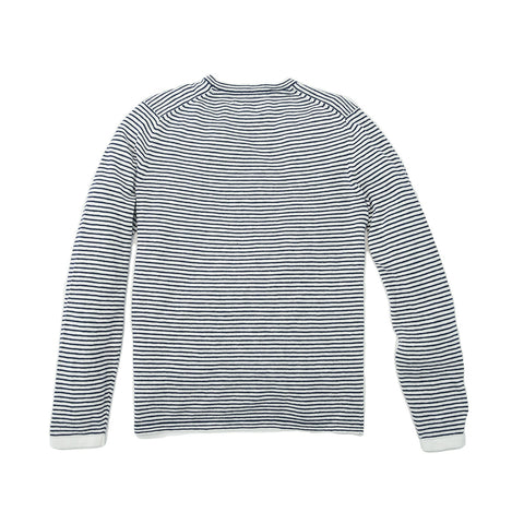 Peter Crew Sweater - Navy Cream Stripe-Grayers