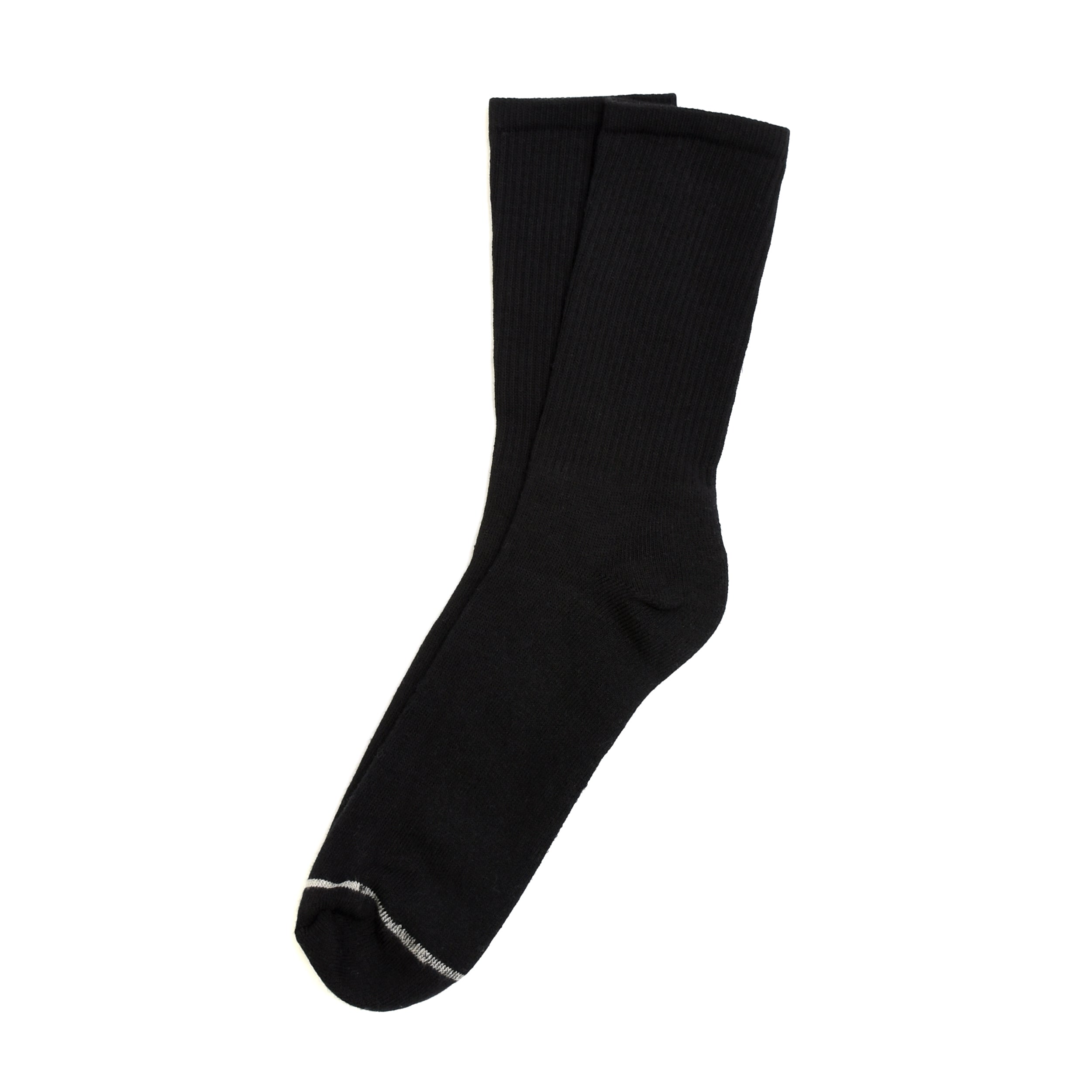 American Trench Silver Crew Socks - Black