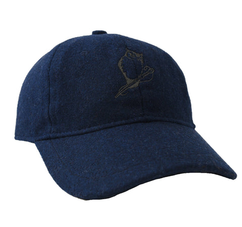Owl Wool Baseball Cap - Navy-Grayers