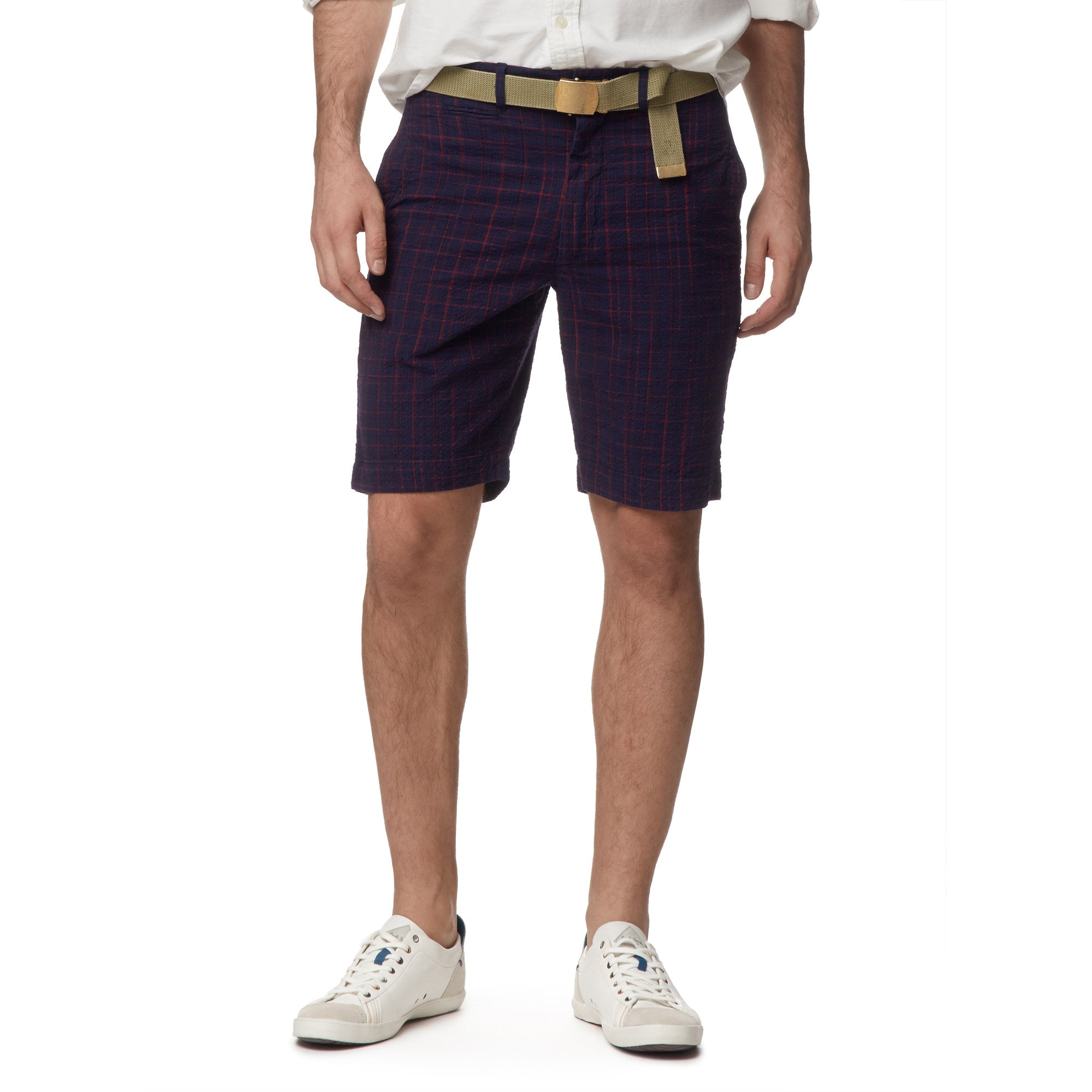 "9"" Newport Space Dyed Short - Navy Red"