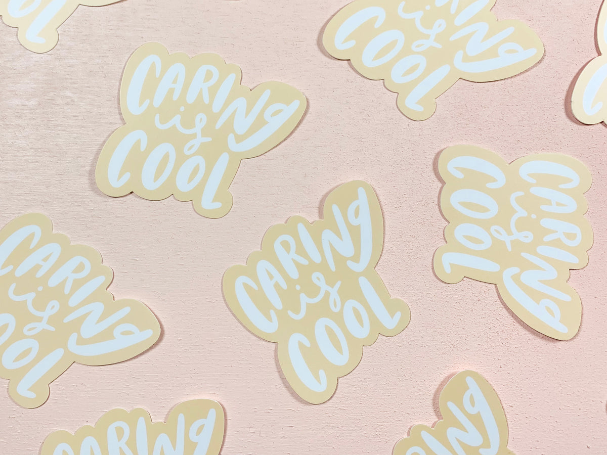 Caring is cool sticker - Craft Boner