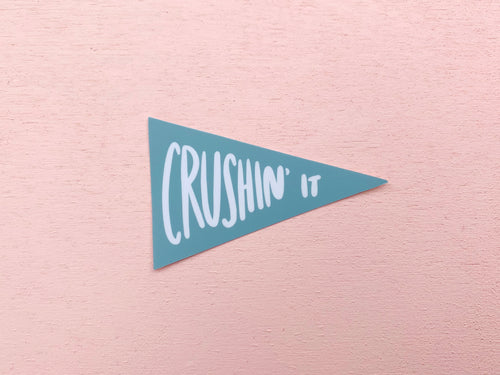 Crushin' it sticker - Craft Boner